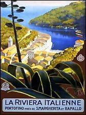 Portofino Travel Poster
