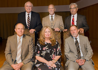 Dr. Kercher (top row, center) was honored in 2010 for 40 years of service to SHSU.