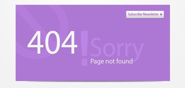 Flat 404 Error Template (PSD)