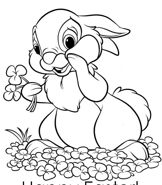 EASTER COLOURING COLORING PICTURES OF EASTER BUNNY