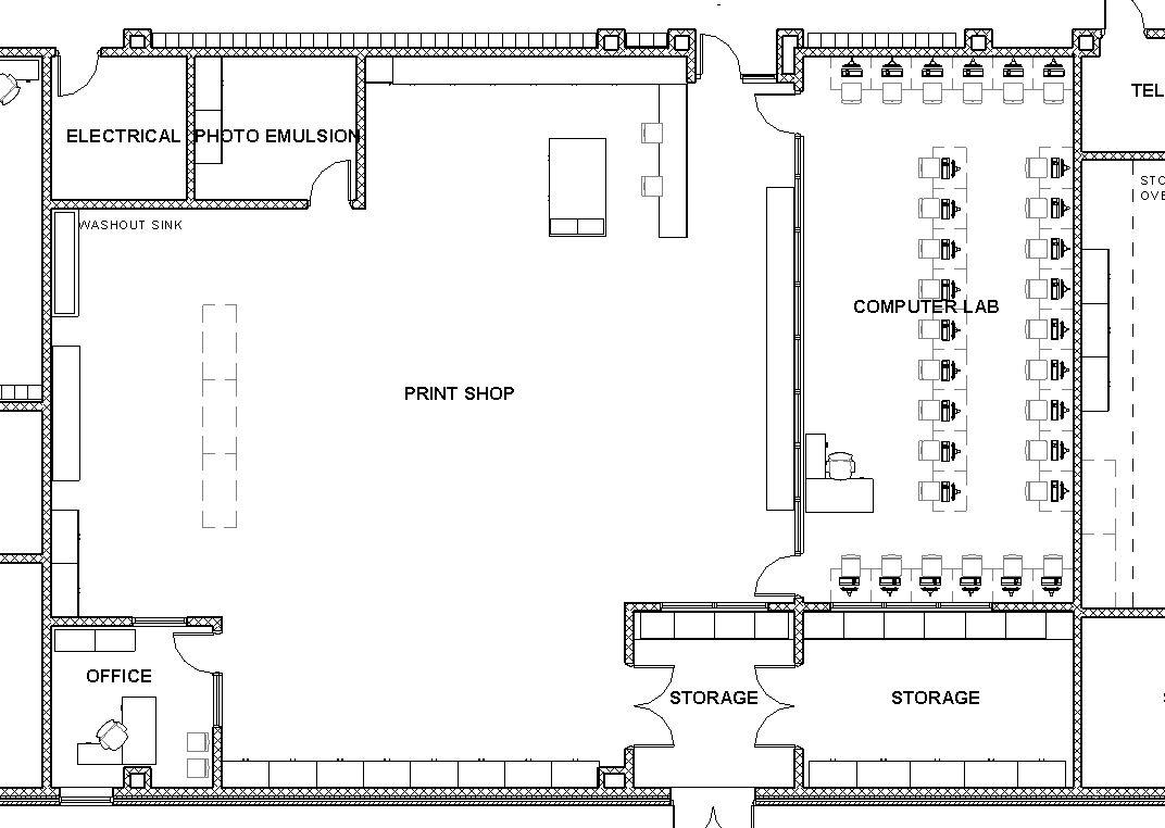 Auto repair shop design layout the for Truck repair shop floor plans