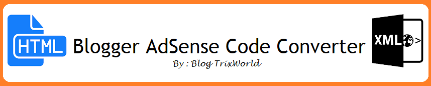 Blogger AdSense Code Converter