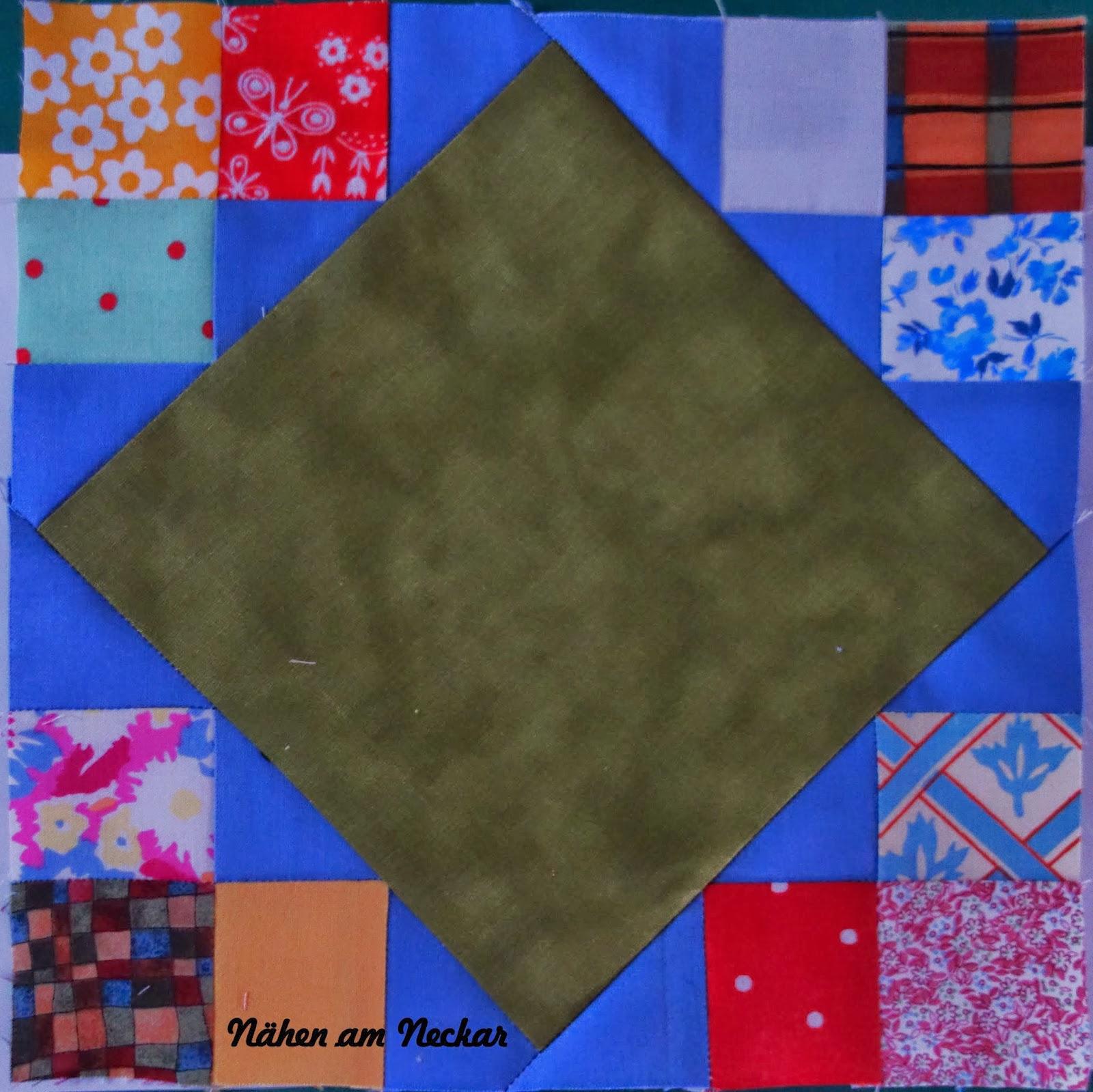 nÄhen am neckar anleitung für meinen irish chain quilt ~ Bücherregal Quilt Anleitung