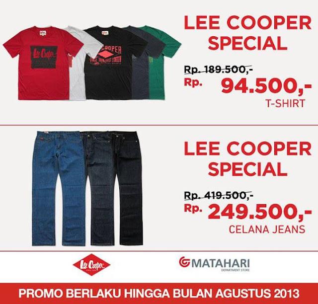 Promo Matahari Department Store Terbaru – Lee Cooper Special – Berlaku s.d. Agustus 2013