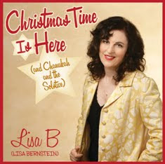 "cover of Lisa B's CD ""Christmas Time Is Here (and Chanukah and the Solstice)"""