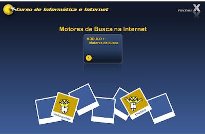 CURSO DE INFORMÁTICA E INTERNET - MOTORES DE BUSCA NA INTERNET