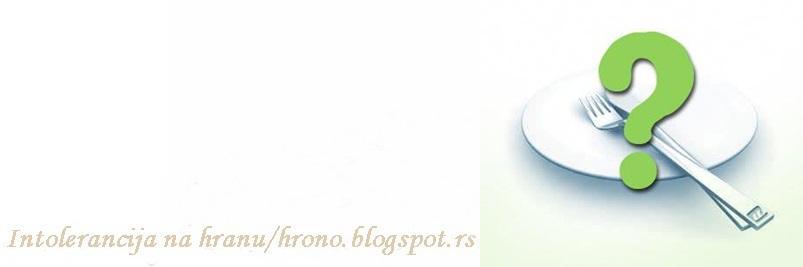 Intolerancija na hranu recepti / hrono.blogspot.com