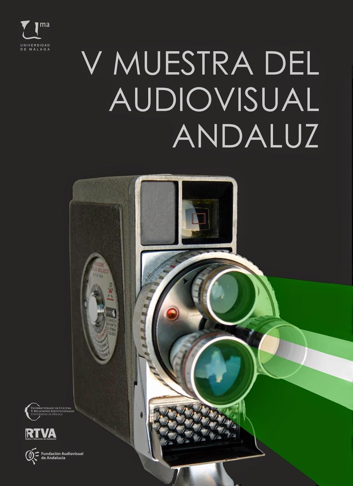 cartel V muestra del audiovisual andaluz de la universidad de Málaga