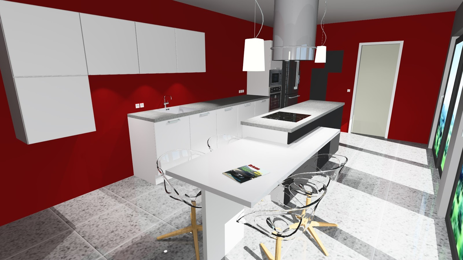 Cuisine contemporaine for Cuisine blanche design