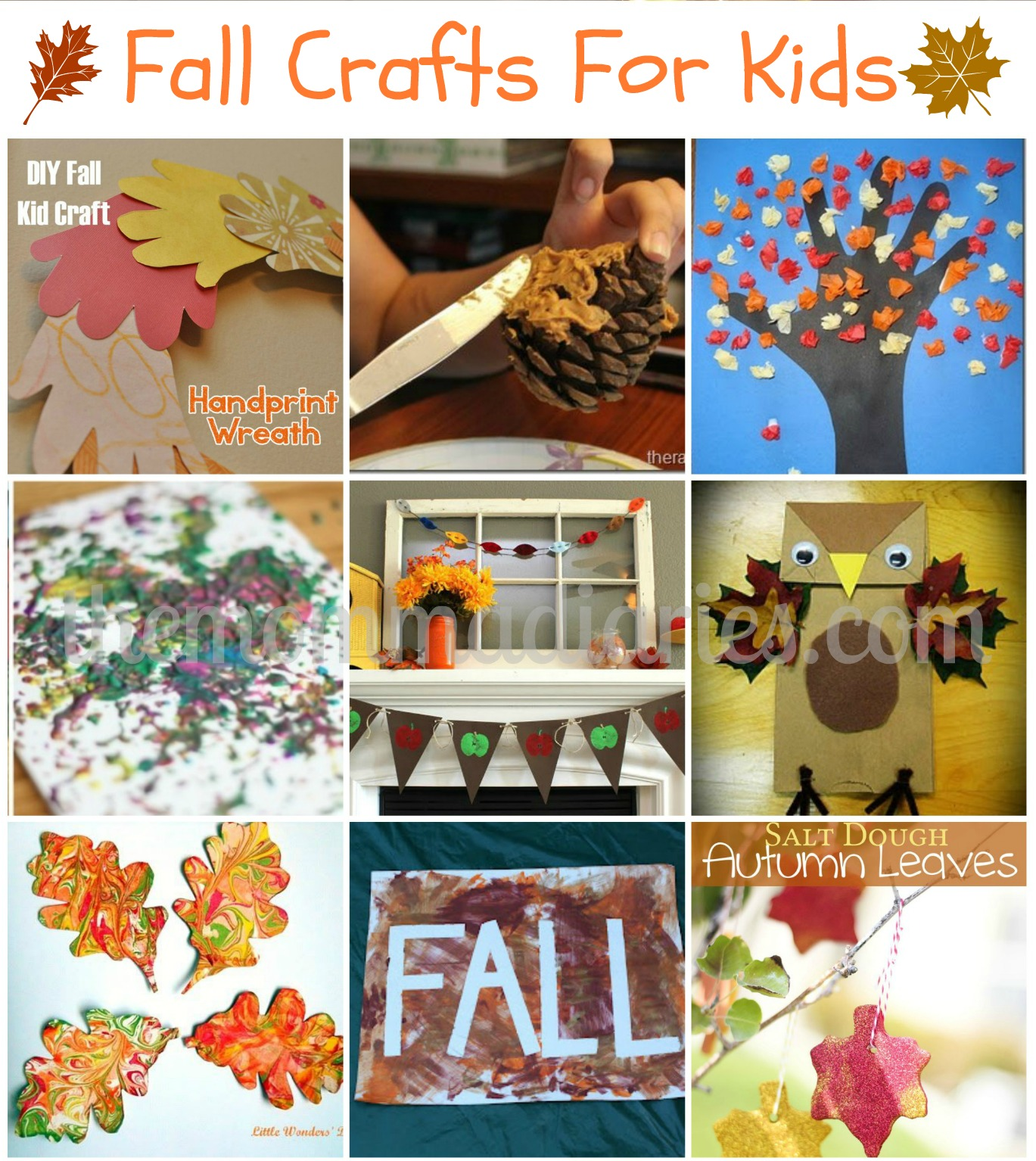 Fall crafts for kids the momma diaries for Fall craft ideas for toddlers