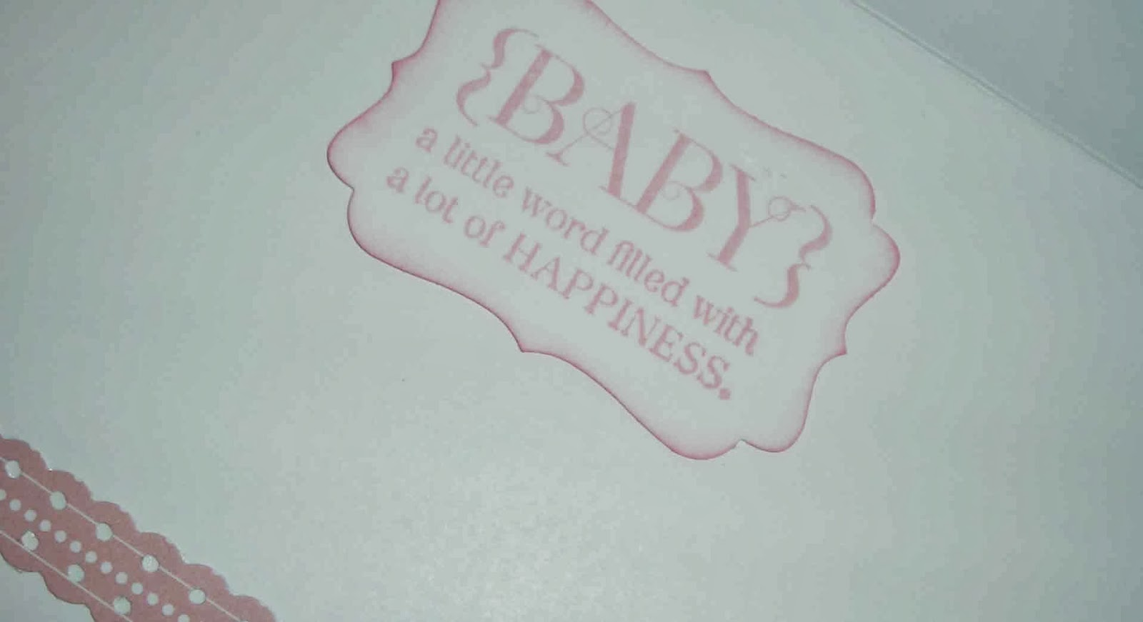 Stampin Up Embellished events baby card