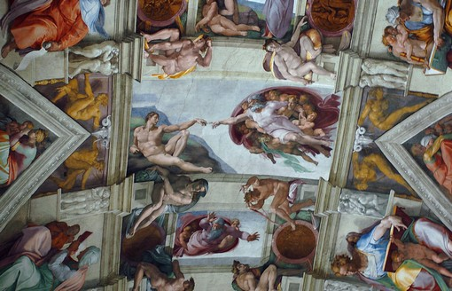 Michelangelo tarot ไมเคิลแองเจโล่ ไมเคิลแองเจิลโล ไพ่ทาโรต์ ไพ่ยิปซี ศิลปะ ผลงาน sistine chapel creation of adam เพดาน พระเจ้า