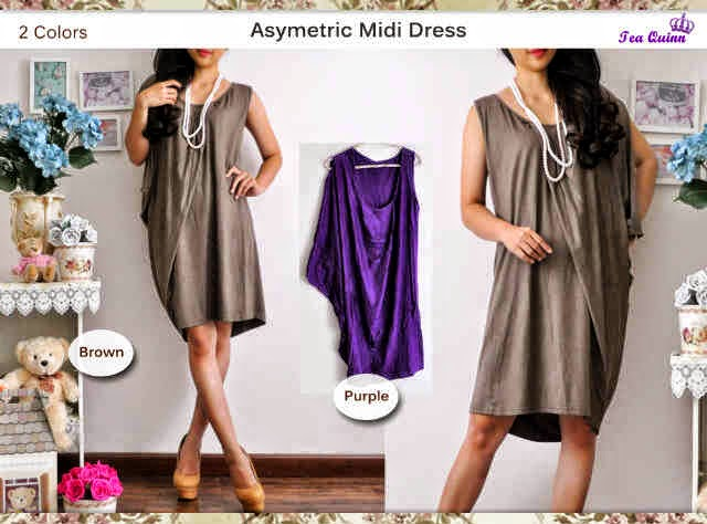 asymetic dress spandek