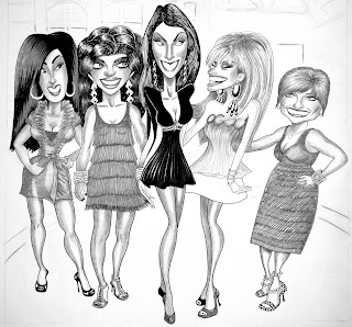 Sketch Wallpaper of Housewives of New Jersey
