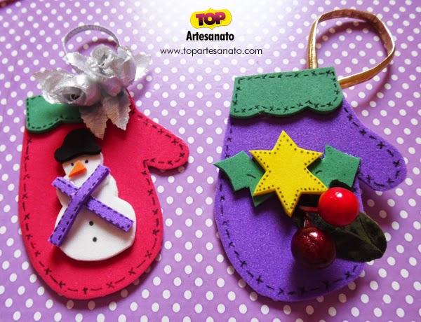 Eu Amo Artesanato Luvinhas enfeites de natal -> Decoração Em Eva Natal