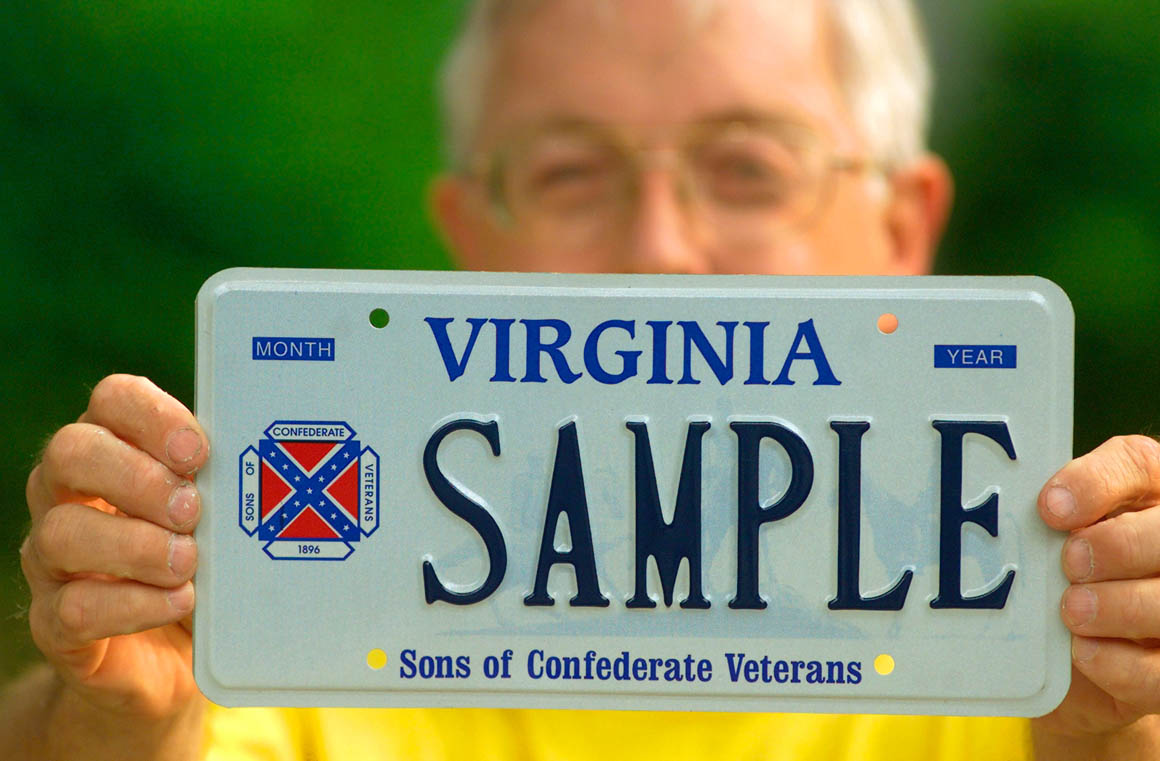 And now for the good news: Sons of Confederate Veterans license ...