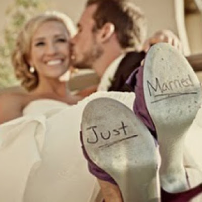 just married zapatos