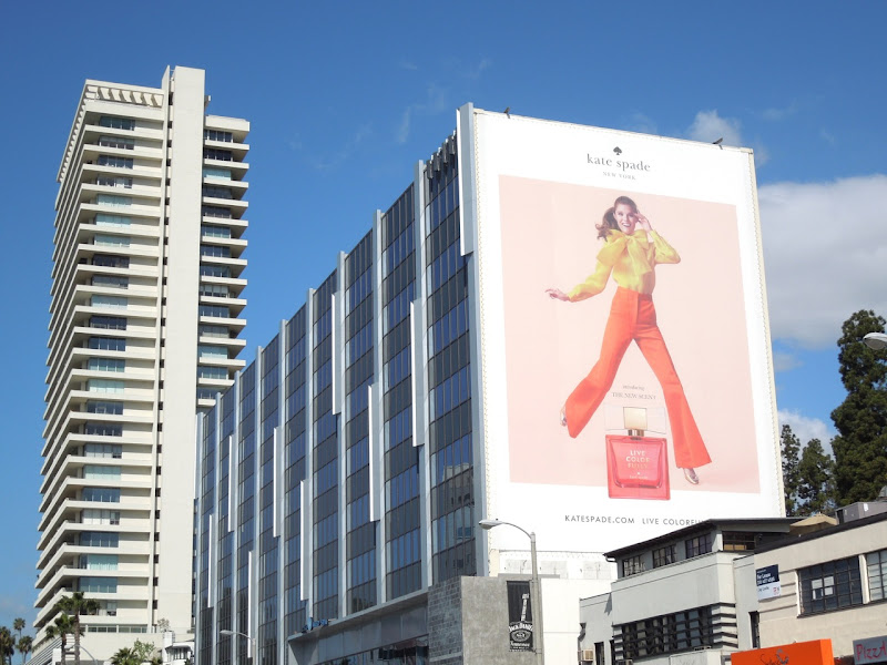 Giant Kate Spade fragrance billboard