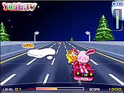 سيارة يوجي الوردية
