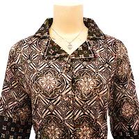 DBT2573 - Baju Bluse Batik Wanita Terbaru 2013