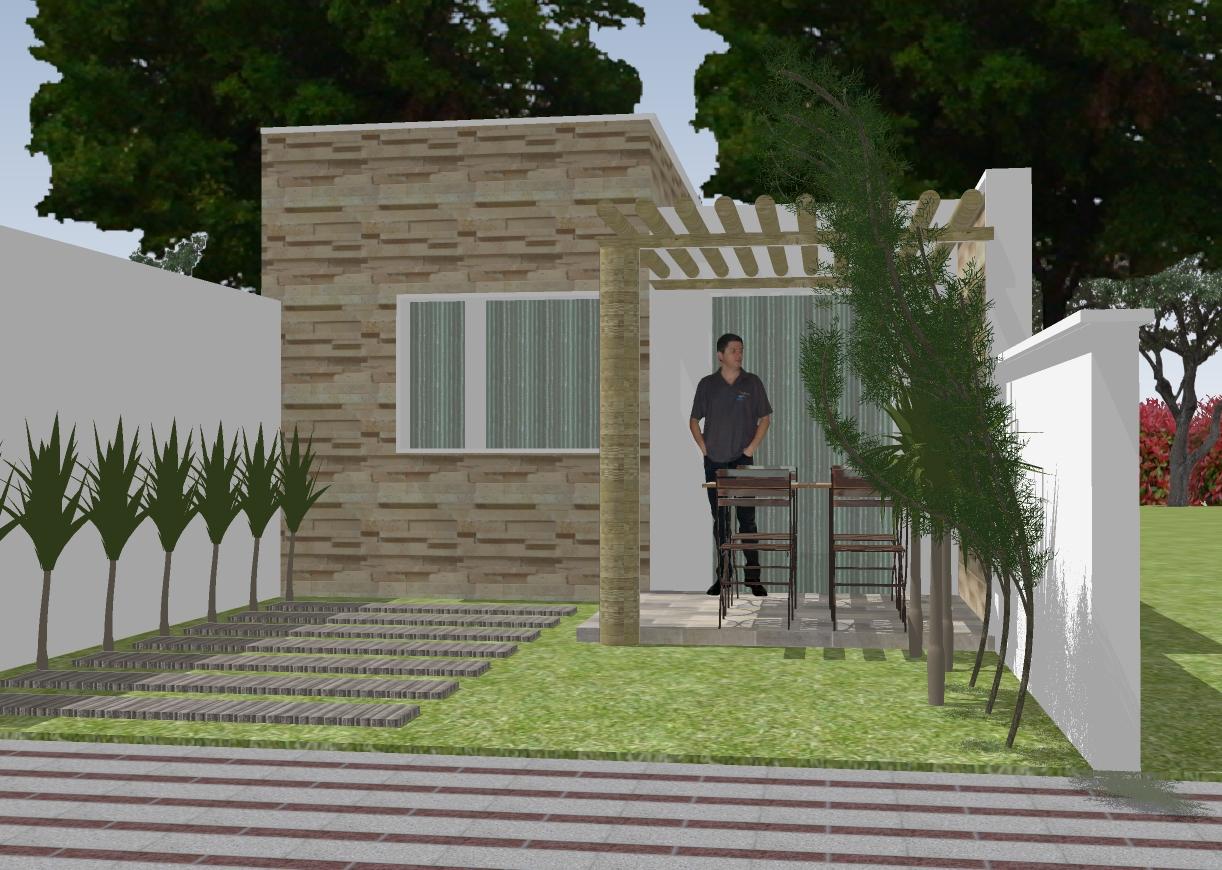 Casa 01 quarto em terreno pequeno 10 x R$7 90 Clique Projetos #1F2612 1222 870