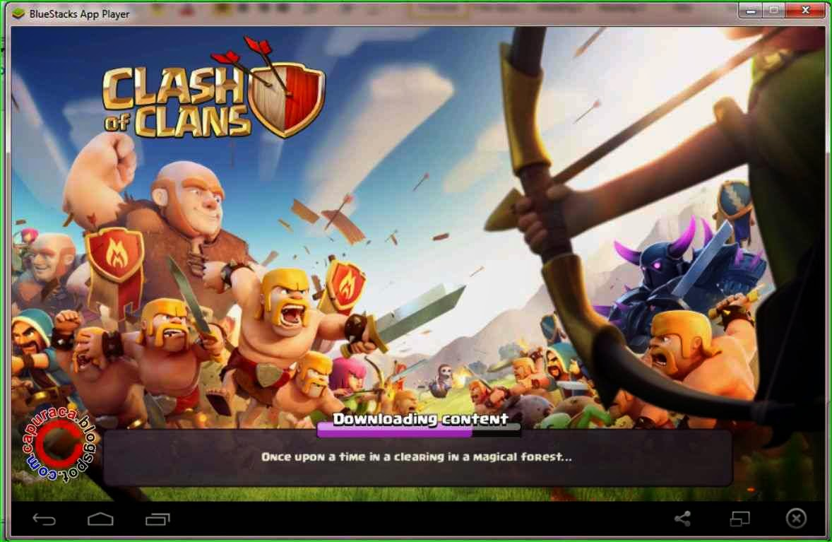 Cara main clash of clans di pc atau laptop,main coc di pc,