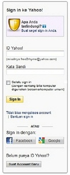 Login Ke Yahoo Mail