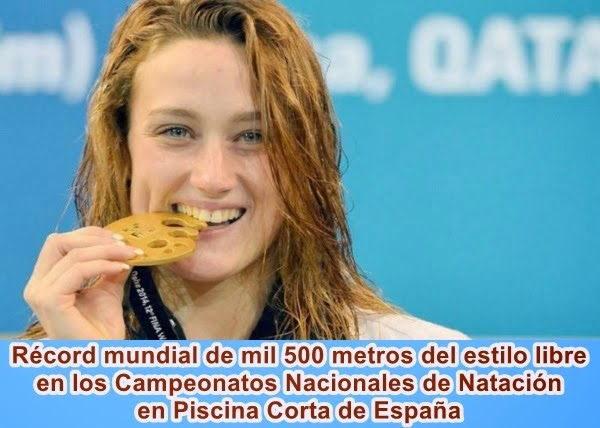 MUNDO: Española impone récord mundial en campeonato de natación