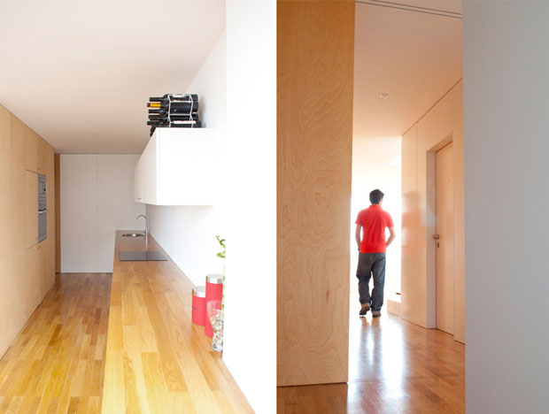 OODA,227 flat,reforma,piso,Oporto,duplex,hamaca,proyecto,redesign,apartment,porto,portugal,wood,hammock,kitchen,hallway,cocina