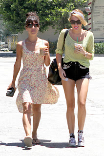 Miley Cyrus out  with a friend in Toluca Lake