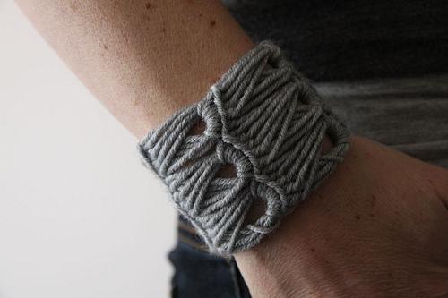 How to Crochet Cuff Bracelet