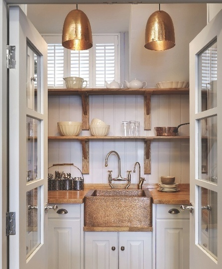 Kitchen Pantry Lighting: The Peak Of Très Chic: Copper In The Kitchen?