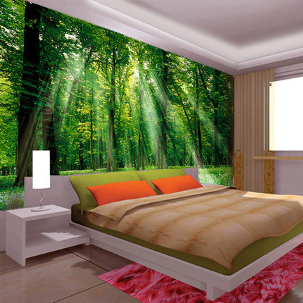 Foundation dezin decor nature in 3d for your for Nature room wallpaper