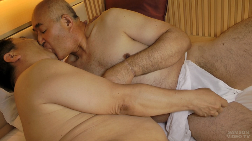 gay-daddies: 2 Very Sexy Japanese Daddies Kiss Hot Each Other