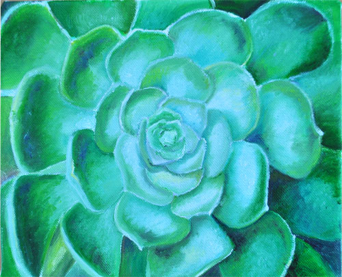 oil painting succulent