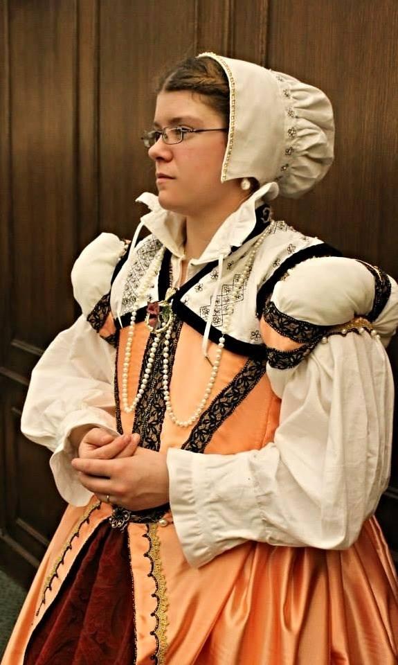 Peach Elizabethan Gown