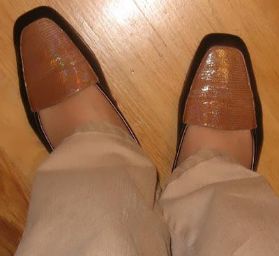 bronze flats tan jeans