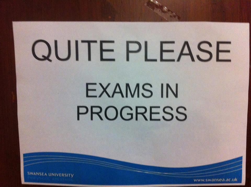 Exam in Progress That Exams Are in Progress