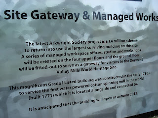 Arkwright's Mill - history and work in progress notice