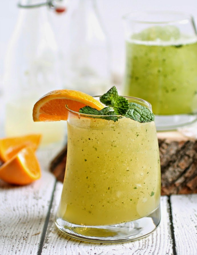 Tangerine Mint Whiskey Slush