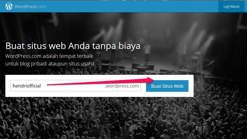 klik buat situs web