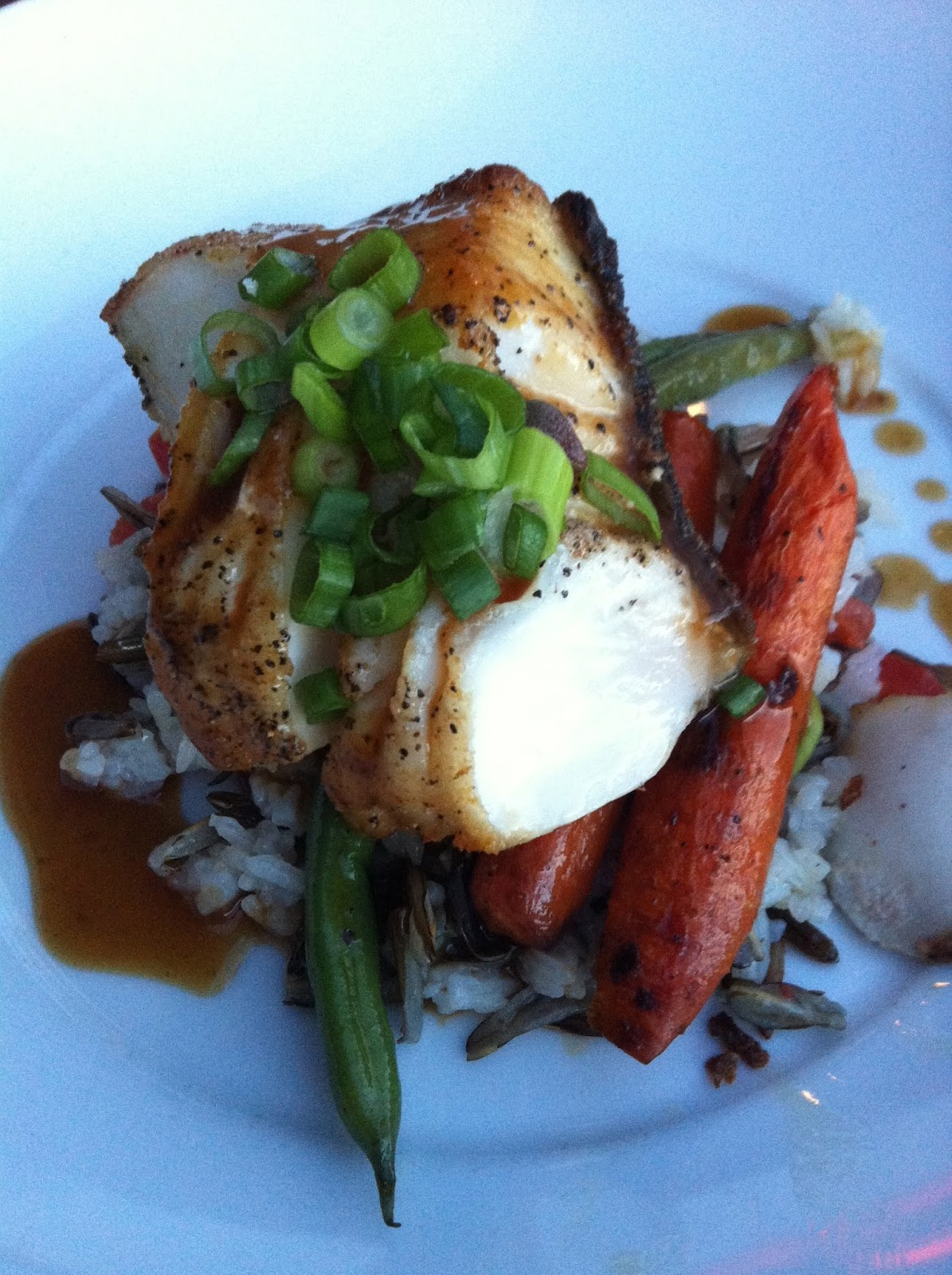 Sable fish with orange-ginger-miso glaze