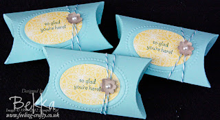 Join my Stampin' Up! Decorated Pillow Box Gift  by Bekka www.feeling-crafty.co.uk