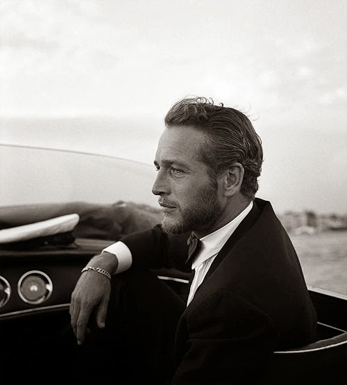 Paul Newman Sports car and suit style icon
