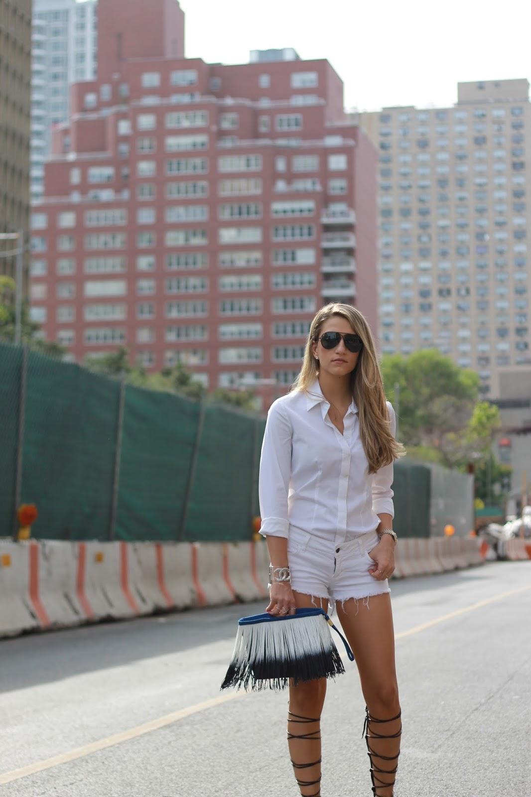 ny street style 2015, fringe clutch
