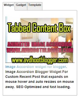 Handsome Tabbed Content Box widget For Blogger Like wordpress