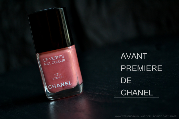 Chanel Nail Polish Starlet 575 - Avant Premiere Makeup Collection - Swatch - Photos - Review - NOTD
