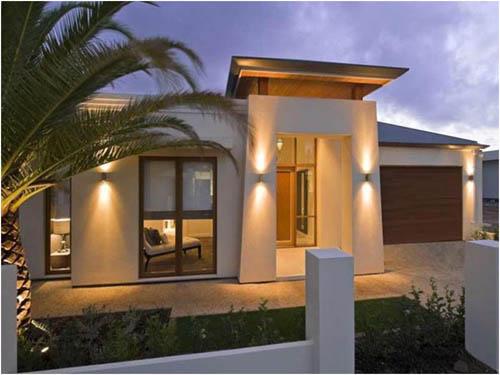 Small modern homes exterior views modern home designs for Small home exterior design
