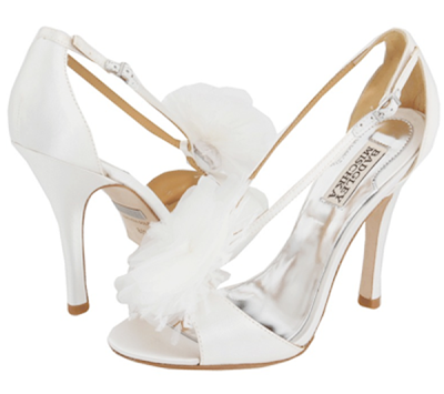 sapatos badgley mischka branco