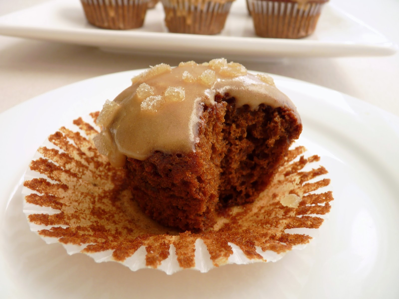 Gingerbread Cupcakes with Coffee Icing